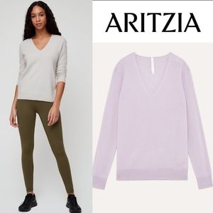 Aritzia the group babaton luxe cashmere v neck